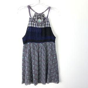Free People Tulle Embroidered Tunic Top #1087